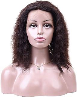 Yrattary 360レース前頭閉鎖ディープウェーブレース前頭人間の髪の毛のかつら自然な女性の合成かつらレースのかつらロールプレイングかつら (色 : 黒, サイズ : 18 inch)