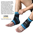 Plantar Fasciitis Sock with Arch Support, Eases Swelling, Achilles Tendon & Ankle Brace Sleeve with Compression Effective Joint Pain Foot Pain Relief from Heel Spurs -Single (Blue-Single) #4