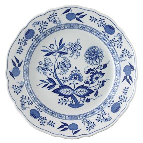 Hutschenreuther 02001-720002-10025 Zwiebelmuster Speiseteller, 25 cm mit Fahne, blau