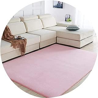 Coral Velvet Carpet Living Room Coffee Table Blanket Bedroom Bedside Mat Bed Front Room Rug Tatami Mat 140Cmx200Cm Pink Rug,5,90X160Cm