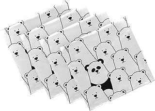 Naanle - Servilletas de Tela de Panda con diseño de Oso y Animales, Lavables, Reutilizables, con Bordes con Dobladillo para casa, Fiestas, Bodas, tamaño Grande, 50,8 x 50,8 cm, 20 x 20 in