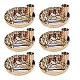 AsiaCraft Servicio para 6 platos de cocina de acero inoxidable de cobre tamaño grande...