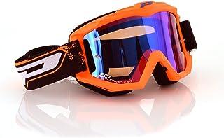 478f207c70 Progrip Gafas Motocross 3204, Naranja Fluorescente/Azul, Talla Única