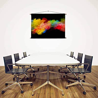 ArtzFolio Colorful Motion D2 Silk Fabric Painting Tapestry Scroll Art Hanging 12inch x 8inch (30.5cms x 20.3cms)