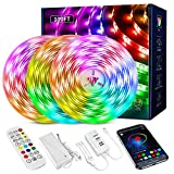 LED Strip Lights 100ft, Led Light Strip with Music Sync,Color Changing LED Strip Lights with Remote, App and Bluetooth Control,LED Strip Lights for Bedroom Party Home Decoration