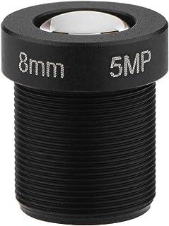 Vbest life - Lente de cámara de 1/2,5 pulgadas, lente CCTV de 8 mm, alta definición de 5 MP megapíxeles para cámara de seg...
