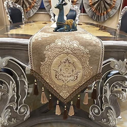 WENLI Runner Corredores de Mesa Simples Hechos a Mano Corredores de Mesa de Jacquard de Alta precisión de de y algodón Moda Mesa de Moda de la Mesa de la Boda de la decoración de la Mesa de