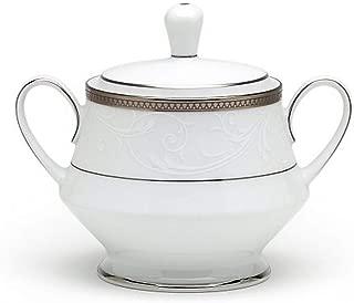Noritake Regina Platinum Sugar Bowl with Cover