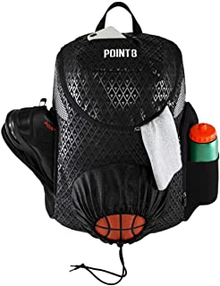 Road Trip 2.0 Basketball Backpack (Grey) Sports Athletic Bag with Built in Compartments for Basketball, Shoes, Water
