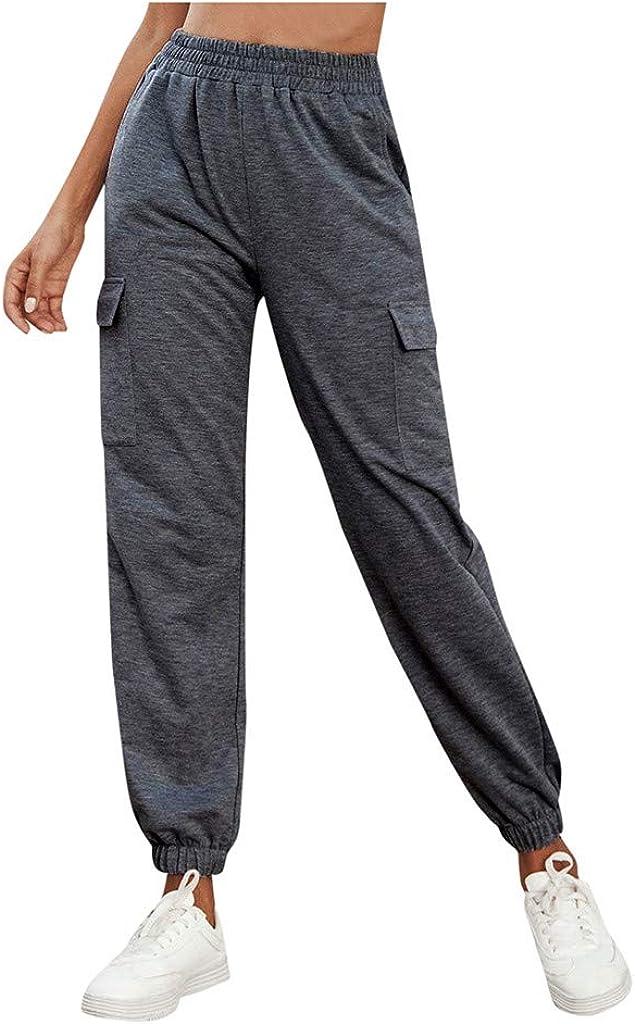 Hessimy Sweatpants for Women Joggers,Women's High Waisted Active Jogger Pants Sweatpants Casual Elastic Waist Lounge Pants
