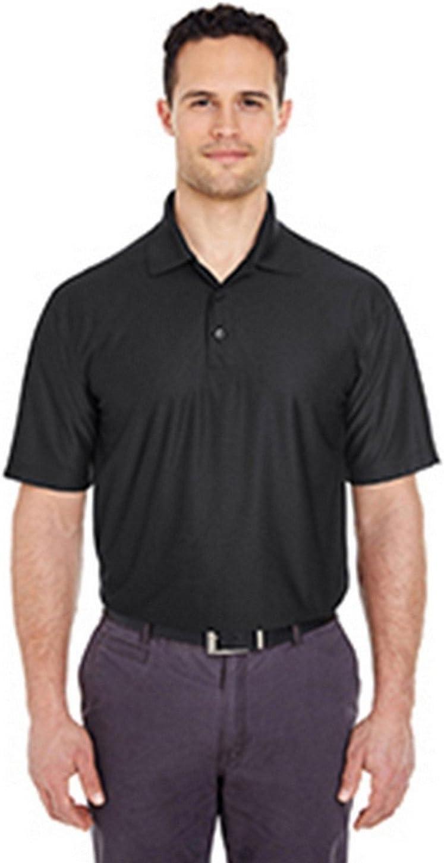 UltraClub Mens Tall Cool & Dry Elite Performance Polo (8415T) Black 2xt