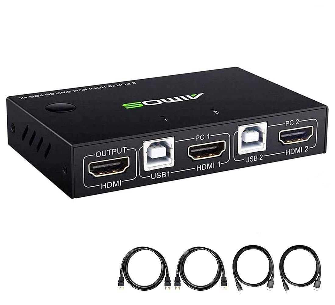 Tulsa Mall KVM Switch HDMI Phoenix Mall 2 Port Box Computers Set or Wired one Share W