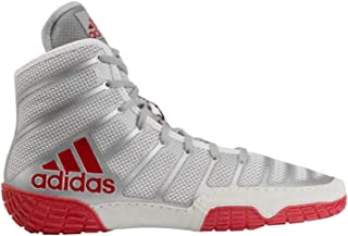adidas Men's Adizero Varner Wrestling Shoes, Red/Silver/Red, Size 11