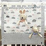 Kinderzimmer Kinderbett Windel Organizer, Aufhängung für Babys Spielzeug Windel Caddy Aufbewahrung für Neugeborene Baby Kinderbett Essentials MULTILAYER Tasche