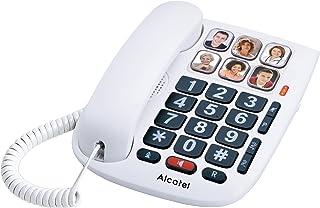 Alcatel T Max 10 Telefon Przewodowy dla Seniorów, Biały