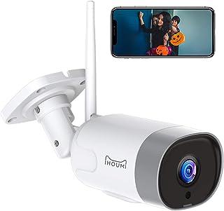 IHOUMI Cámara de Vigilancia WiFi Exterior, IP66 a Prueba de Agua y Polvo,Cámara de Seguridad,Visión Nocturna de 20 Metros,...