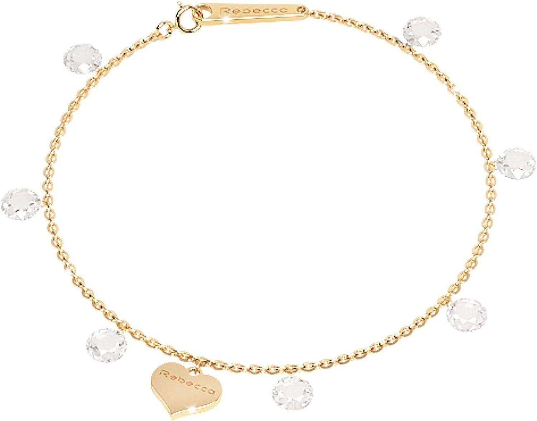 Rebecca Women's SLCBOB02 gold Metal Bracelet