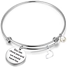 QIIER Daughter in Law Gift Our Son Chose You and We Would Have Too Adjustable Wire Bangle Bracelet