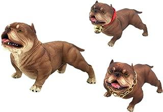 Nuanmu Children's Toys American Bully Pitbull Dog Animal Figurine Memorial Car Decoration (Dark Brown)