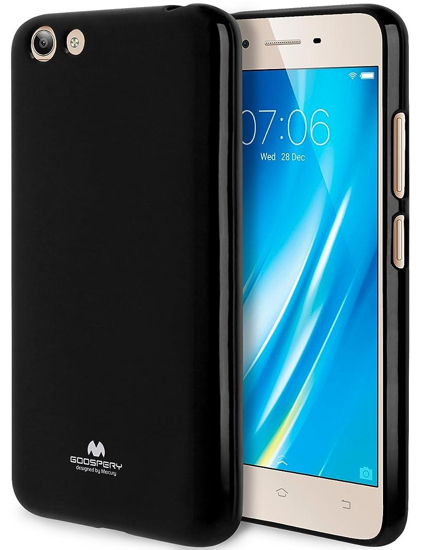 GOOSPERY Marlang Marlang Vivo Y53 Case - Black, Free Screen Protector [Slim Fit] TPU Case [Flexible] Pearl Jelly [Protection] Bumper Cover for Vivo Y53, VIVOY53-JEL/SP-BLK