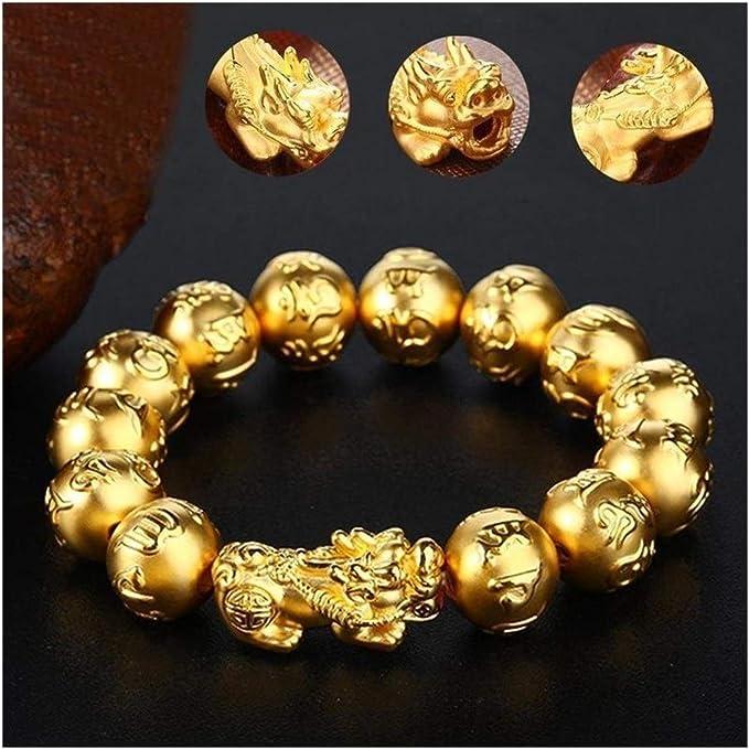 Wealth Lucky Bracelet Unisex Bracelet Men Women Gold Color Pixiu Can Bring Good Luck