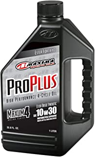 Maxima (30-01901) Pro Plus+ 10W-30 Synthetic Motorcycle Engine Oil - 1 Liter Bottle