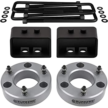 2WD 3//4th Dual Pins Rear Leveling Kit for 2004-2020 Ford F-150 2 Inch Rear High-Strength Steel Lift Blocks Supreme Suspensions