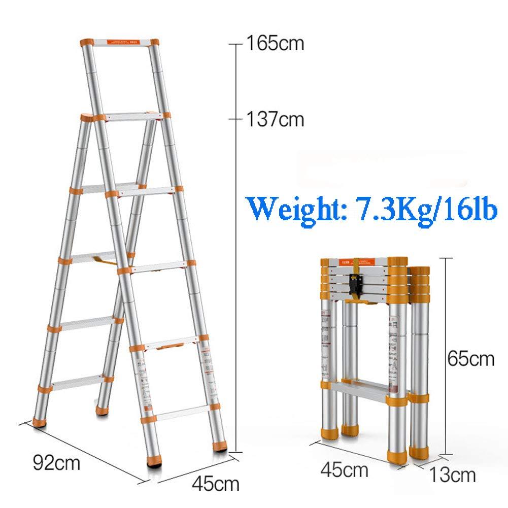 3.1m Escalera Telescópica Extensión Telescópica De Aluminio Escalera Alta Multifuncional Para Loft,800kg/1764lb,Amarillo: Amazon.es: Jardín