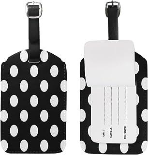 Use4 White Black Polka Dot Luggage Tags Travel Bag Tag Suitcase 1 Piece