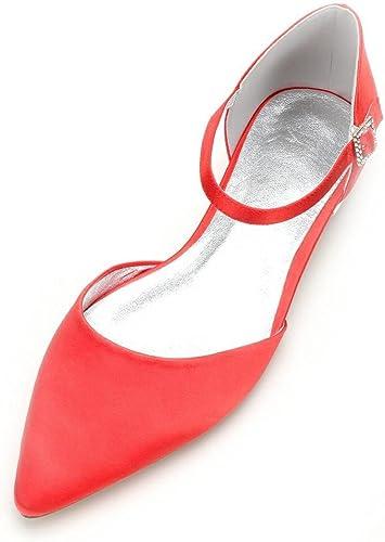 Duoai@ Grande, Calzado Plano Chapado y Presidente Pointed-Toe  Moda Nupcial zapatos botas Bolas Parte Slotted-Strap zapatos