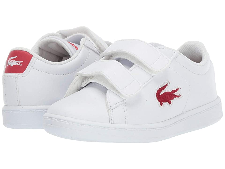 Lacoste Kids Carnaby Evo HL (Toddler/Little Kid) (White/Red) Kids Shoes