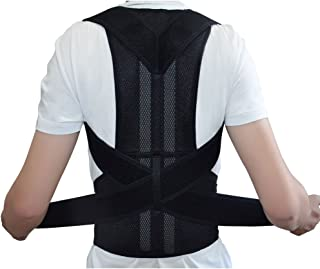 Back support Back Brace Support for Back Neck Shoulder Upper Back Pain Relief Perfect Posture Corrector Strap for Cervical Spine (M)