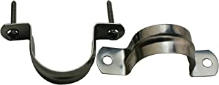 Amanaote 201 Stainless Steel 1.4 Inches Diameter Tube Strap Tension Clip PipeClamp(Pack Of 10 Sets)