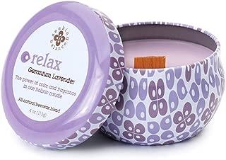 Root Candles Seeking Balance Spa Traveler Candle, 4-Ounce, Relax: Geranium Lavender