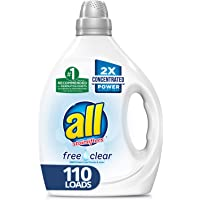 All Liquid 2X Concentrated Laundry Detergent for Sensitive Skin 110 Loads