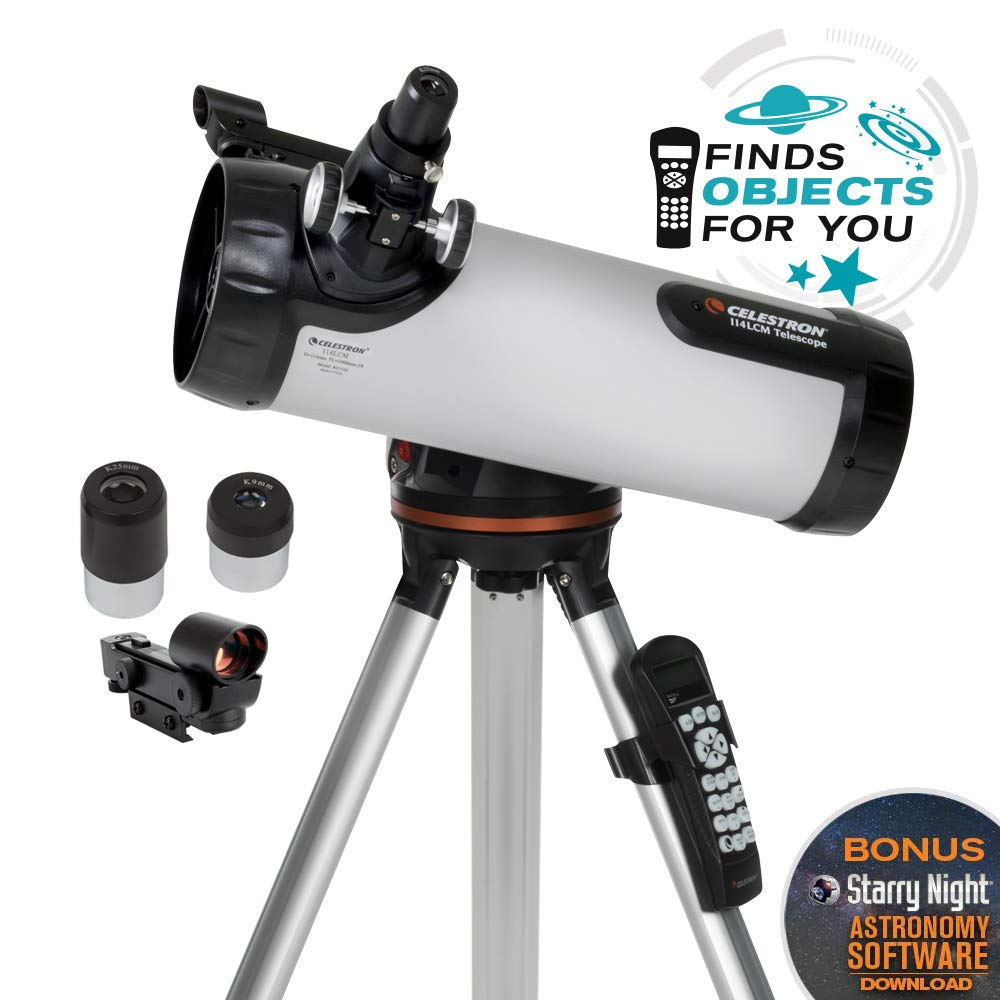 Celestron 114LCM Computerized Telescope Black