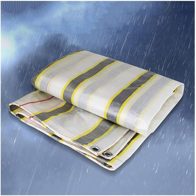 LQQGXL Tarpaulin regendichte regendichte regendichte Sonnenschutz Auto Plane doppelseitige Wasserdichte Fracht Staub Tuch hohe Temperatur Anti-Aging, Streifen Wasserdichte Plane B07J4S2TL7  Komfortabel und natürlich 0546b7