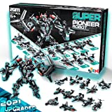 Princeplay Robot STEM Building Blocks Toys - 25 in 1 Transforming Sets Best Learning and Educational Toy 577 PCS for Kids Boys Ages from 6 7 8 9 10 11 12+ Years Old