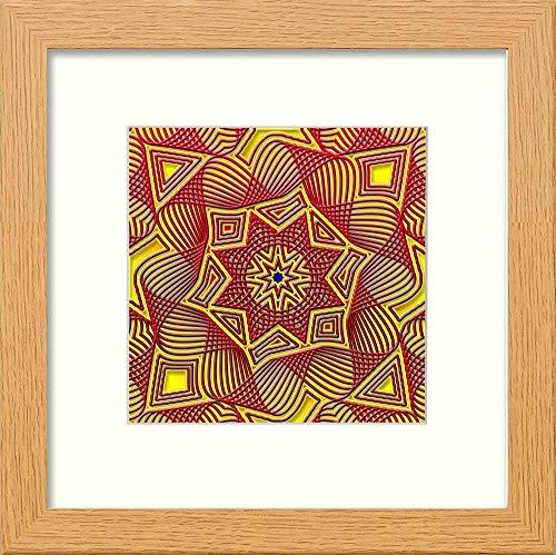 L Lumartos Piastrelle Islamiche Vintage, Stile Contemporaneo, Decorazione da Parete, in Rovere Chiaro, 10 x 10 cm, 10 x 10