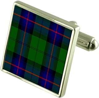 Tartan Clan Armstrong Cufflinks in Engraved Personalised Case