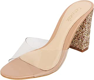 Catwalk Beige Slip-on Sandals