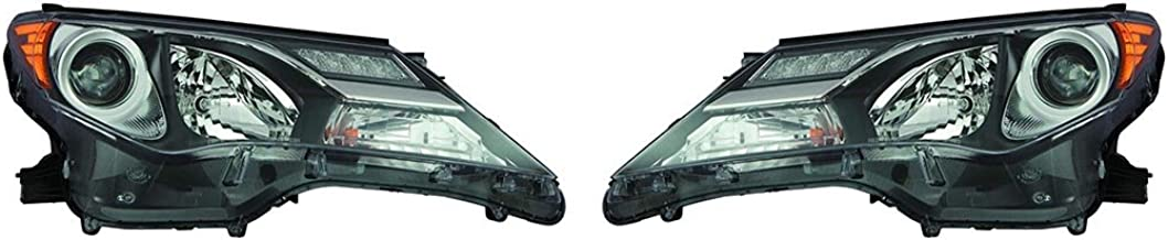 Fits Toyota Rav4 2013-2015 Headlight Assembly for USA Built Pair Driver and Passenger Side (DOT Certified) TO2502217, TO2503217