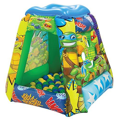 Teenage Mutant Ninja Turtles Half-Shell Heroes Ball Pit, 1 Inflatable & 20 Sof-Flex Balls, Green, 37'W x 37'D x 34'H