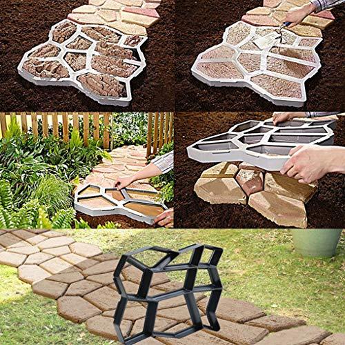 Lorsoul Die DIY Pflaster Mold Hausgarten Auffahrt Black Mold Straße Stepping Stone Betonpflaster