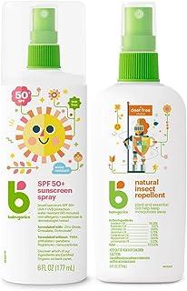 Babyganics Bundle - SPF 50+ Sunscreen Spray, 177ml + Natural Insect Repellent, 177ml