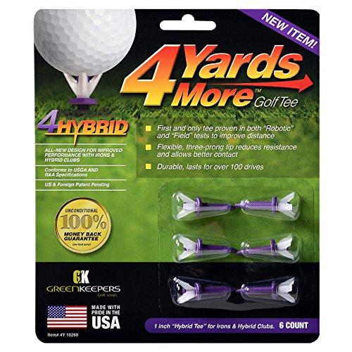 """Greenkeepers 4 Hybrid Golf Tee , Purple , 1"""""""