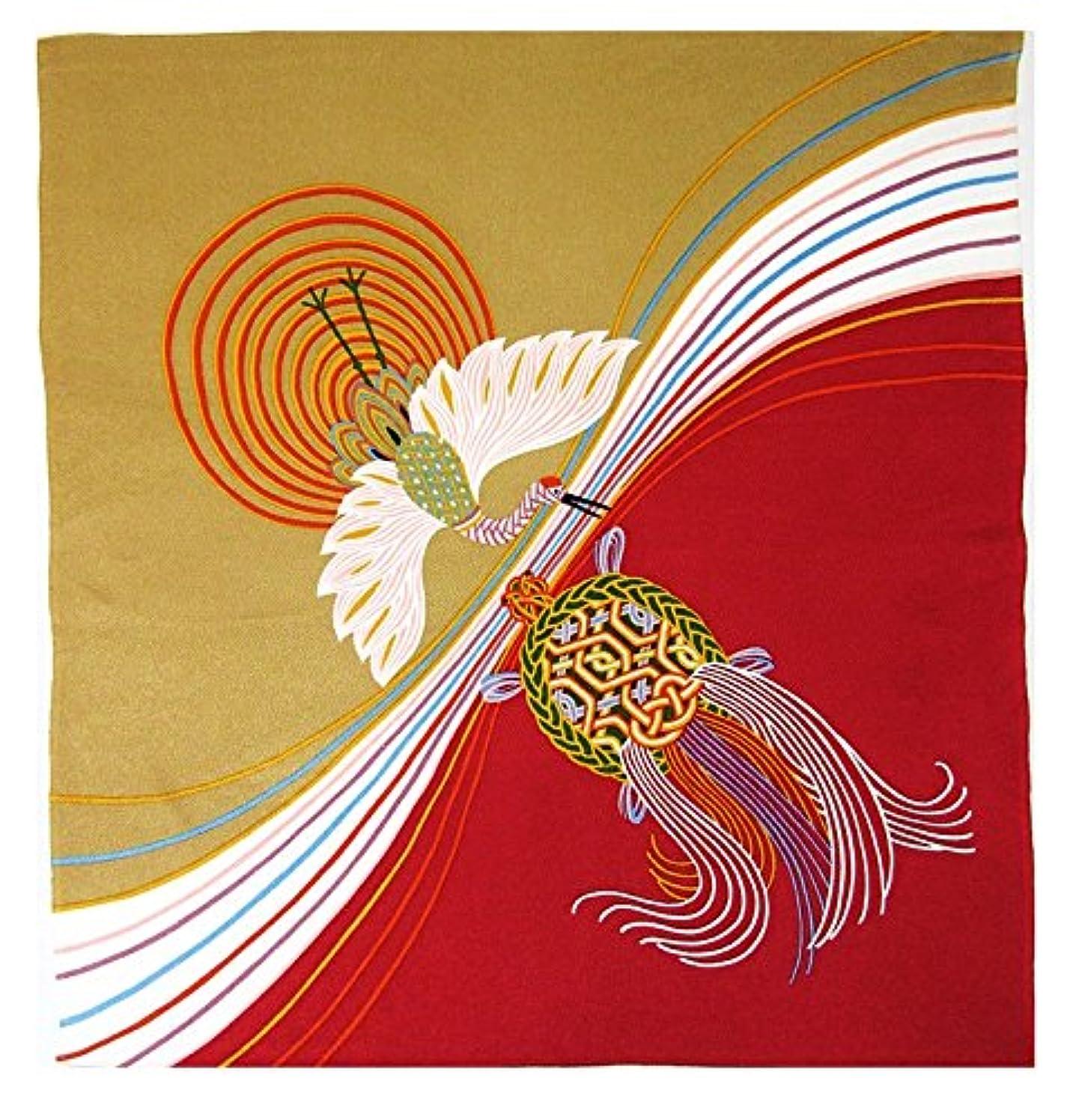 [L/27inc] FUROSHIKI- Japanese Traditional Wrapping Cloth (Rainbow and crane, tortoise)