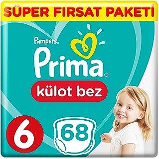Prima Pants Külot Bebek Bezi, 6 Beden, 68 Adet, Ekstra Large Süper Fırsat Paketi