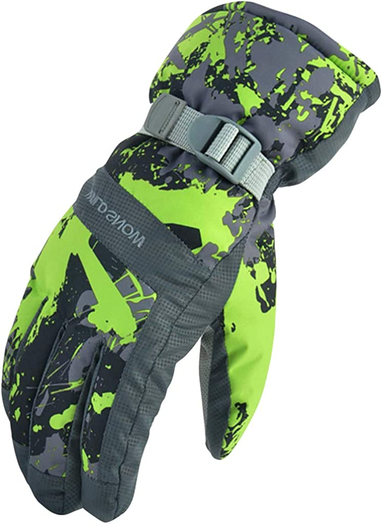 Ski Gloves Winter Gloves Warm Windproof Anti-slip Thermal Outdoor Sport Mitten