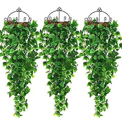 AGEOMET Fake Ivys Artificial Ivys Greenery Garlands Hanging for Wedding Party Garden Wall Decoration